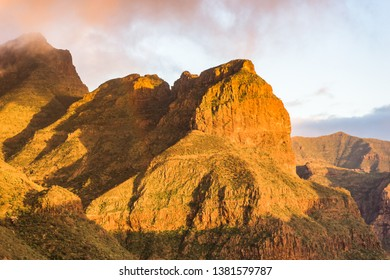 Mountains of Masca valley on Tenerife Island. Spain.