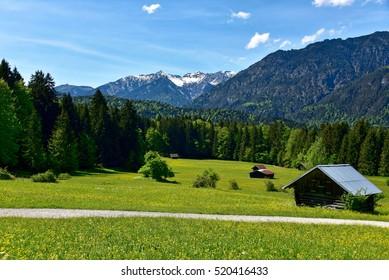 Mountains and meadows near Grainau - Germany