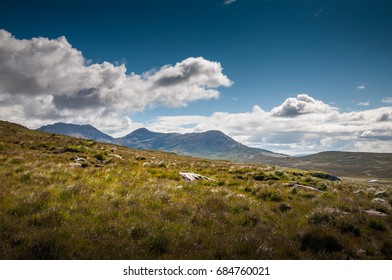 Mountains of National park Connemara in Ireland
