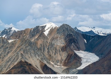 Mountains near the source of the Kaskawulsh Glacier in Kluane National Park, Yukon, Canada