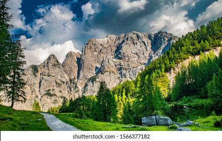 Mountains near Vrsic mountain pass, Slovenia