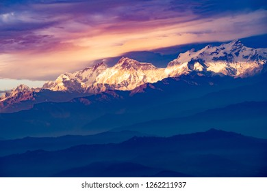 Mountains of nepal. Himalayas. Ananpurna