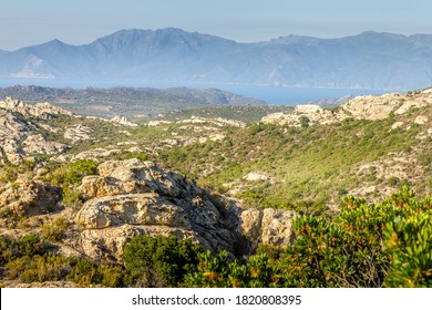 Mountains in the north of Corsica, France