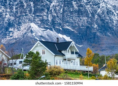 Mountains in the north of Norway.Tromso,Vikran