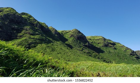 Mountains on the North Shore of Oahu.