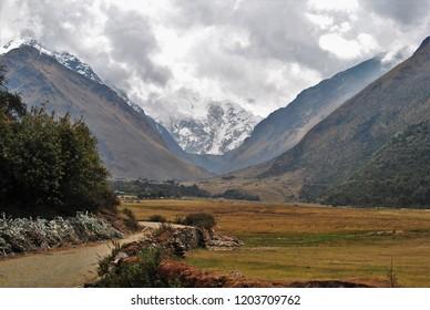 mountains on Salkantay trek South America