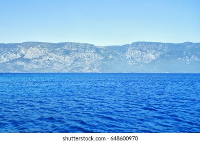 mountains on the sea coast