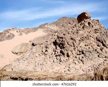 Mountains on Sinai, near Moses Mountain.