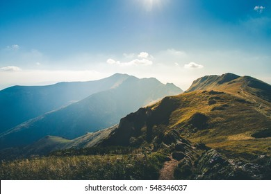 The mountains on a sunny day