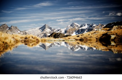 Mountains in Ossau Valley, Pyrenees National Park, Pyrenees, France.