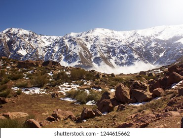 Mountains oukaimeden morroco marrakeche oukaimden haut atlas chaine montagneuse marocaine