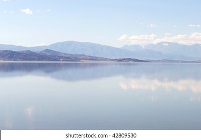 Mountains reflection in a lake