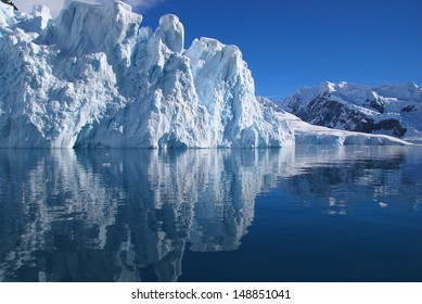 Mountains and reflections in Antarctica