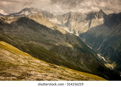 Mountains with Rocky Tops and Steep Hills in Summer, Mallnitz, Ankogel, High Tauern, Austria