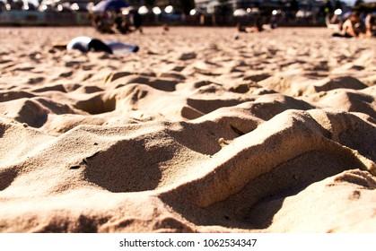 Mountains of sand - Bondi Beach, Sydney, Australia
