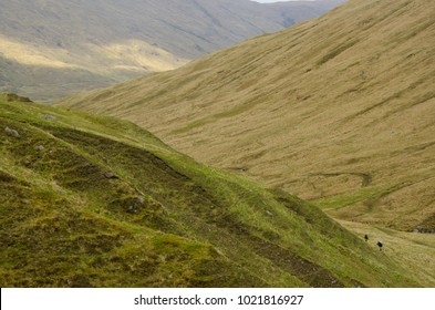 Mountains in Scotland Highland seen from the Cape Wrath trail