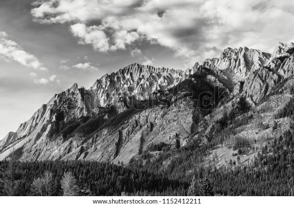 Mountains set against a beautiful sky.