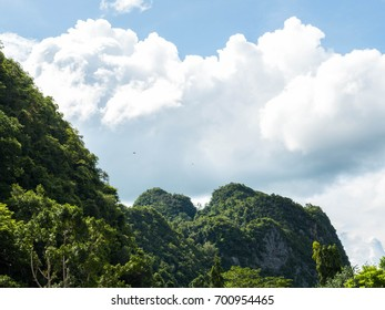 Mountains and sky with clouds