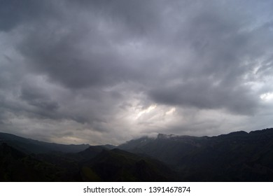 Mountains and sky Dagestan Russia
