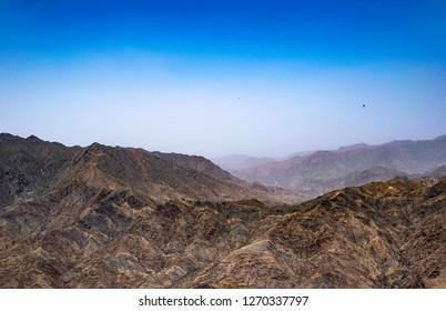 The mountains & sky near to Abha city in Saudi Arabia
