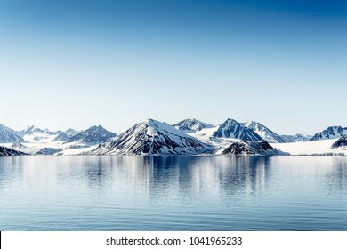Mountains, snow of the nature of Arctic