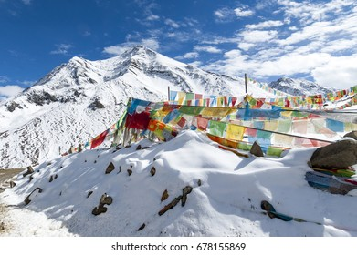 Mountains with snow in winter,Tibet,China