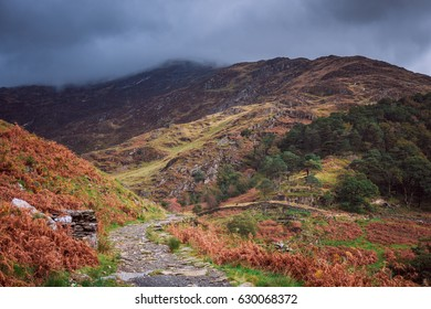 Mountains of Snowdonia National Park in Wales