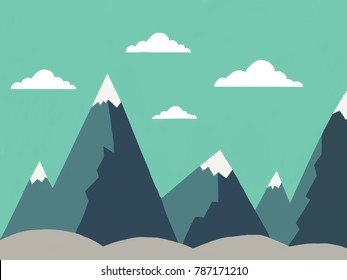 Mountains with some clouds