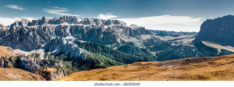 Mountains in South Tirol, high definition panorama