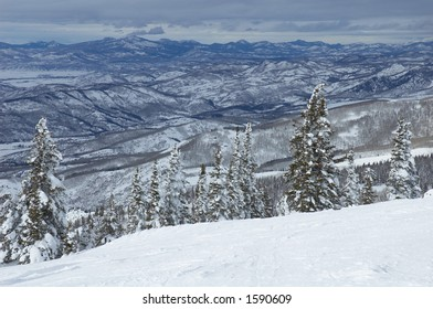 Mountains in Steamboat Springs, colorado, Usa