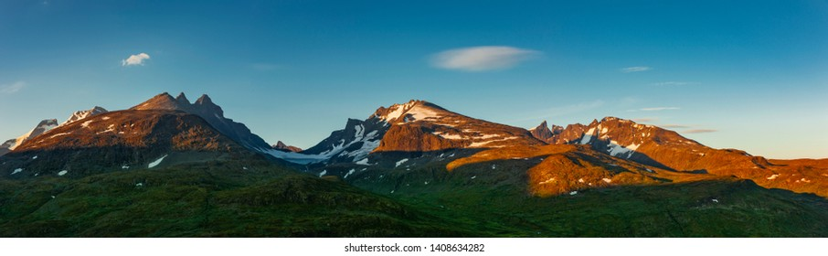 Mountains at sunrise in Jotunheimen National park