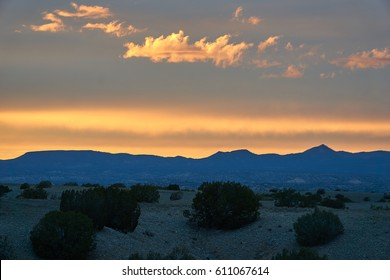 mountains sunset new mexico