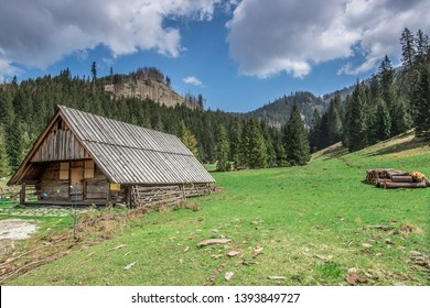 Mountains Tatry Zakopane Poland wooden house