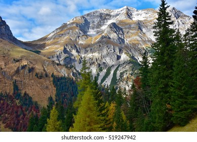 Mountains and trees in Eng at Hinterriss, Austria