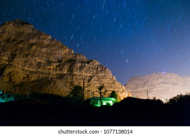 Mountains under the starlit sky