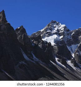 Mountains in the upper Gokyo Valley, Nepal.