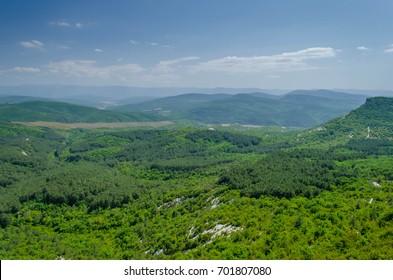 Mountains, valley, Crimea