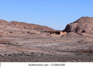 the mountains of the valley of the moon in the atacama desert in chile