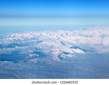 Mountains, view from airplane