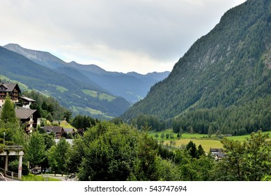 Mountains and the village Heiligenblut in Austria.