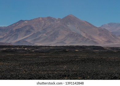 Mountains and volcanos in the arid