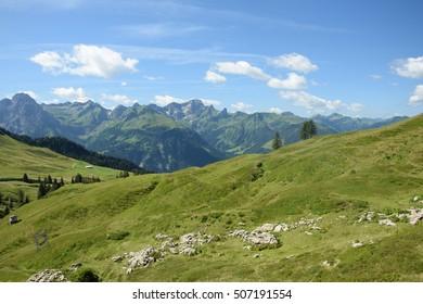 Mountains in Vorarlberg, Austria