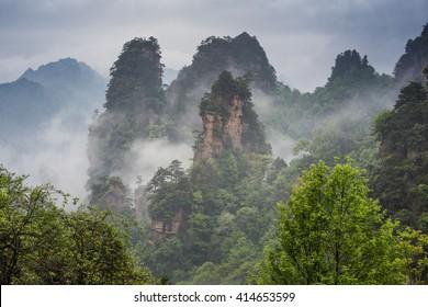 mountains of Zhangjiajie - China