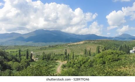 Mountain-sea landscape.Coast Of Crimea.