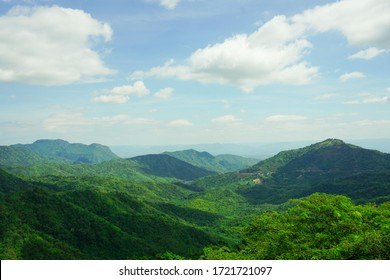 Mountains,green trees, the nature of Thailand