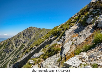 Mountainside of the Koscielec mountain, High Tatras, Poland