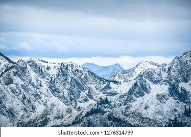 Mountaintops in the Lizard Range, Fernie, British Columbia, Canada - Winter theme