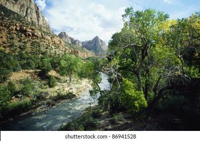 The Mountais of the Zion National Park