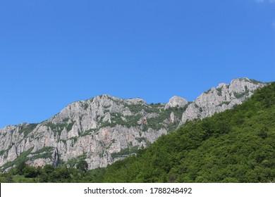 Mountine and village Vlasi, neer Jarma river.  - Shutterstock ID 1788248492
