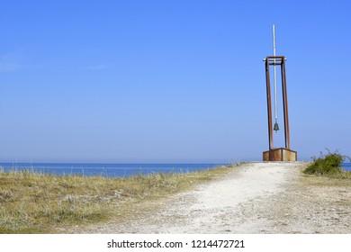 Mounument in honor and memory of fatalities of tragic ferry Estonia death sank in Baltic sea, Hiiumaa island, Estonia